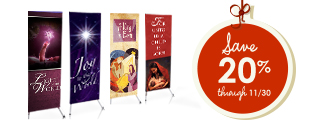 Christmas Banner Sale for Churches. Save 20%!