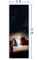 2x5 Vertical Banner