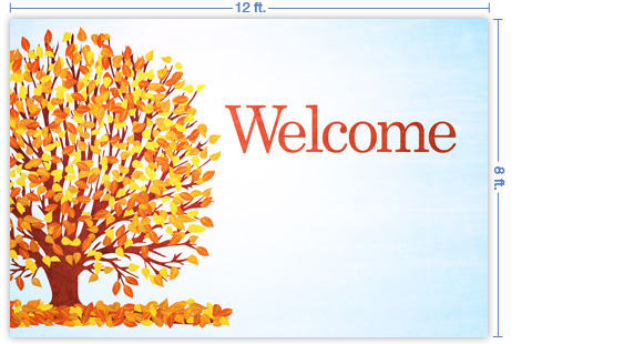 sermonview welcome fall 12x8 stage backdrop