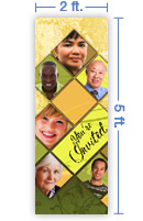 2x5 Vertical Church Banner of All Invited