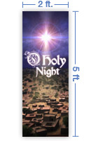 2x5 Vertical Church Banner of Bethlehem