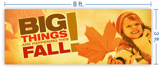 8x3 Horizontal Church Banner of Big Things Fall