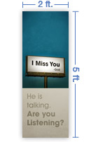 2x5 Vertical Church Banner of Billboard