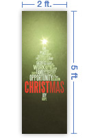 2x5 Vertical Church Banner of CHRISTmas