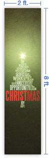 2x8 Vertical Church Banner of CHRISTmas