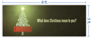 8x3 Horizontal Church Banner of CHRISTmas