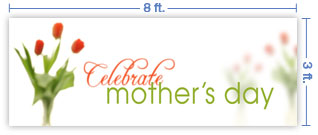 8x3 Horizontal Church Banner of Celebrate Mother's Day