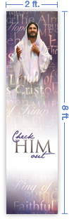 2x8 Vertical Church Banner of Check Him Out