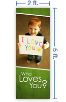2x5 Vertical Church Banner of Child's Heart