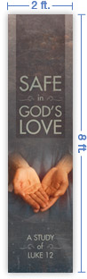 2x8 Vertical Church Banner of Christ's Hand Valentine