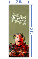 2x5 Vertical Church Banner of Christmas Chaos