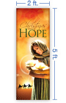 2x5 Vertical Church Banner of Christmas Hope