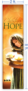 2x8 Vertical Church Banner of Christmas Hope