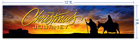 12x3 Horizontal Church Banner of Christmas Journey