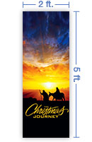 2x5 Vertical Church Banner of Christmas Journey
