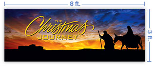 8x3 Horizontal Church Banner of Christmas Journey