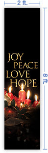 2x8 Vertical Church Banner of Christmas Spirit