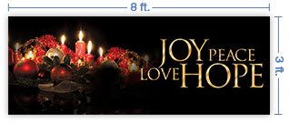 8x3 Horizontal Church Banner of Christmas Spirit
