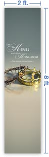 2x8 Vertical Church Banner of Crowns