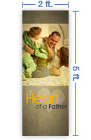 2x5 Vertical Church Banner of Daddy Playing