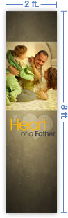 2x8 Vertical Church Banner of Daddy Playing