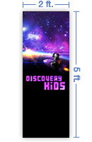 2x5 Vertical Church Banner of Discovery Kids