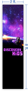 2x8 Vertical Church Banner of Discovery Kids