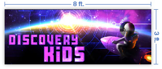 8x3 Horizontal Church Banner of Discovery Kids