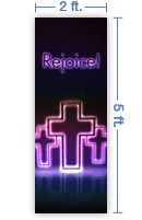 2x5 Vertical Church Banner of Dynamic