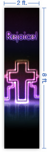 2x8 Vertical Church Banner of Dynamic