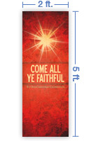 2x5 Vertical Church Banner of Faithful