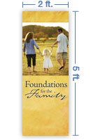 2x5 Vertical Church Banner of Family Walk