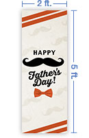 2x5 Vertical Church Banner of Fathers Day Mustache