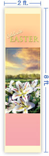 2x8 Vertical Church Banner of Lilies of the Field