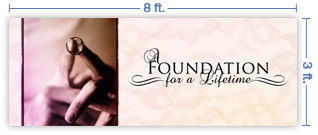 8x3 Horizontal Church Banner of Foundation