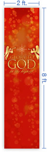 2x8 Vertical Church Banner of Glory To God