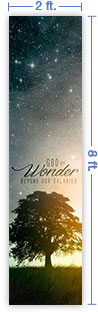 2x8 Vertical Church Banner of God of Wonder