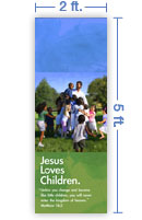2x5 Vertical Church Banner of God's Children