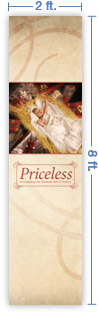 2x8 Vertical Church Banner of Greatest Gift