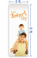 2x5 Vertical Church Banner of Happy Father's Day