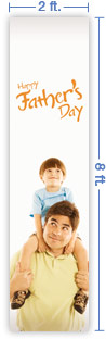 2x8 Vertical Church Banner of Happy Father's Day