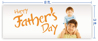 8x3 Horizontal Church Banner of Happy Father's Day