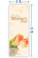 2x5 Vertical Church Banner of Happy Mother's Day