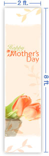 2x8 Vertical Church Banner of Happy Mother's Day