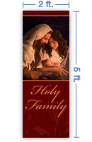 2x5 Vertical Church Banner of Holy Family
