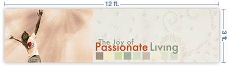 12x3 Horizontal Church Banner of I Love Jesus!