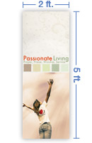 2x5 Vertical Church Banner of I Love Jesus!