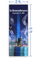 2x5 Vertical Church Banner of In Remembrance