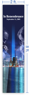 2x8 Vertical Church Banner of In Remembrance