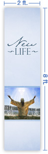 2x8 Vertical Church Banner of Baptized in the Spirit